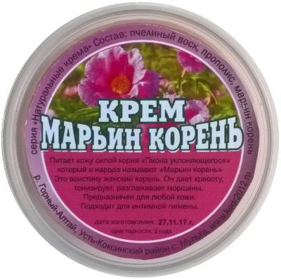 Натуральный крем «Марьин Корень» (без химии) 50 мл.